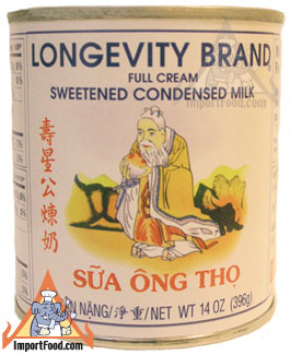 condensed milk, longevity brand