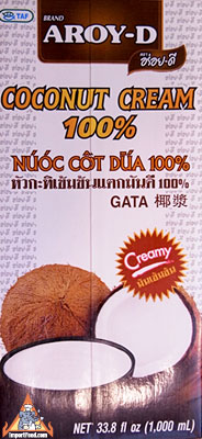 all natural coconut cream