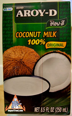all natural coconut milk, aroy-d