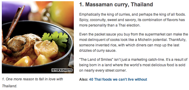 Massaman curry, Thailand