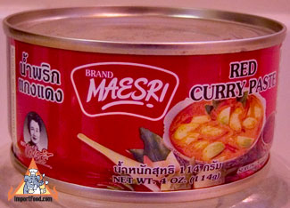 Thai red curry paste, 4 oz can, Maesri brand, available online from ...