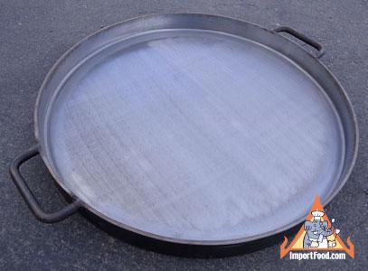 large flat wok, thailand