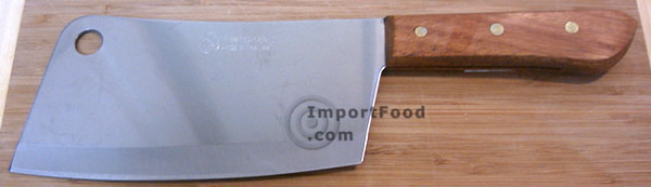 large thai cleaver, kiwi