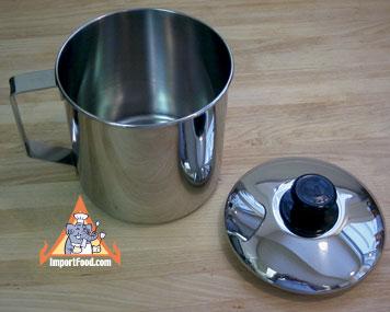 stainless mug with lid