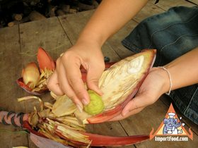 Thai Banana Flower 'Hua Plee' - Rub with Kaffir Lime