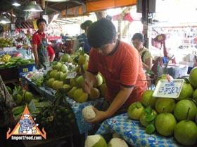 Fresh Coconut Juice Vendor in Thailand