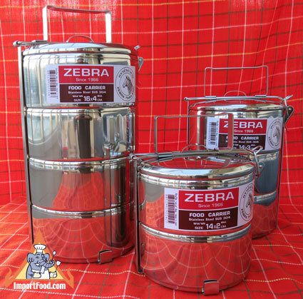 food carrier, tiffin, zebra stainless, thailand