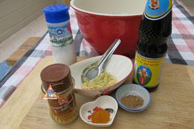 Thai Barbecue Chicken, 'Gai Yang' - Marinade ingredients
