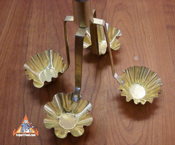 kratong tong mold, brass