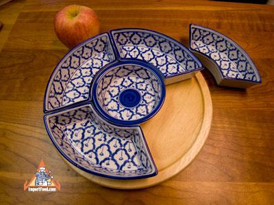 lazy susan, thailand, ceramic