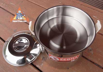 stainless steel loop handle pot