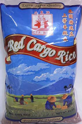 Thai red cargo rice