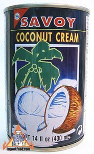 Savoy brand coconut cream, 14 oz