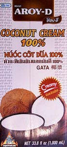 33.8 oz box Aroy-D All Natural Coconut Cream