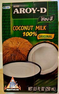 33.8 oz box Aroy-D All Natural Coconut Milk