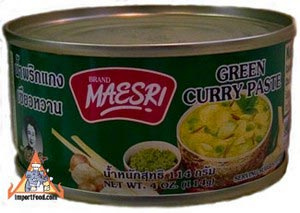 Maesri, green curry, 4 oz can