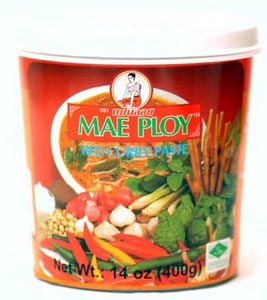 Mae Ploy brand, red curry paste, 14 oz jar