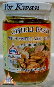 Chili Paste With Sweet Basil Leaves, 7 oz jar
