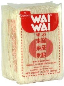 Rice vermicelli noodles, Wai Wai, 17.5 oz
