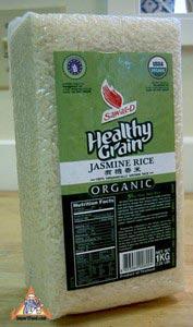 Organic Rice, White Jasmine, 2.2 lbs
