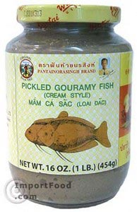 Pickled mud fish, 16 oz jar