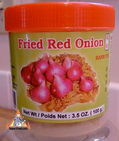Thai fried red onion, 3.5 oz jar