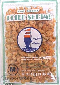 Dried shrimps, 3 oz
