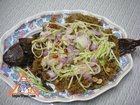 Cotton Fish with Green Mango Salad, 'Pla Dook Foo'