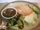 Steamed Fresh Fish and Vegetables Thai-Style with Dipping Sauce