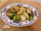 Stir-Fried Brussels Sprouts with Garlic and Chile