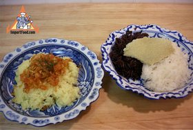 Thai Sticky Rice Steeped in Coconut Milk, 'Khao Neeo Moon' - Sticky Rice Steeped in Coconut Milk, 'Khao Neeo Moon'