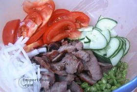 Thai Beef Salad, 'Yum Nuea' - Put them all together