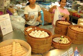 Thai Street Vendor for Steamed Thai Dumplings, 'Pun Sip Neung'