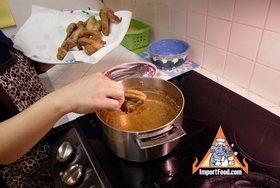 Thai Chicken Fried Hat Yai Style, 'Gai Tod Hatyai' - Fry again at high heat