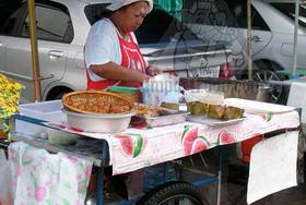 Thai Street Vendor for Thai Fish Custard, 'Hor Mok'