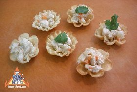 Golden Thai Pastry Cups, 'Kratong Tong' - Golden Thai Pastry Cups, 'Kratong Tong'