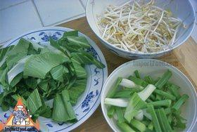 Korat-Style Stir-Fried Noodles, 'Pad Korat' - Vegetables read to add