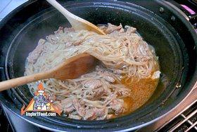 Korat-Style Stir-Fried Noodles, 'Pad Korat' - Stir-fry together