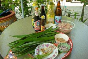 Chicken in Pandan Leaves, 'Gai Haw Bai Toey'