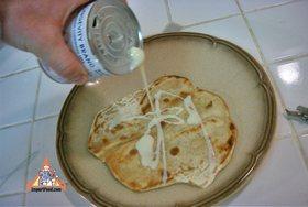 Roti Recipe - Top with sweetened condensed milk