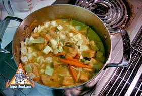 Vegetable Curry, 'Sayur Lodeh' - Vegetables added
