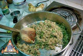 Steamed Thai Dumplings, 'Pun Sip Neung' - Preparing dumpling filling