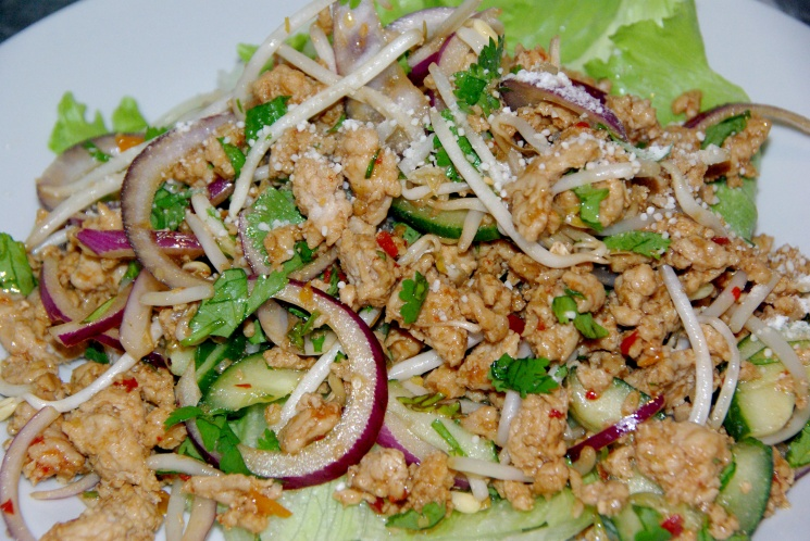 thai larb salad thai larb recipe life and larb chicken salad thai