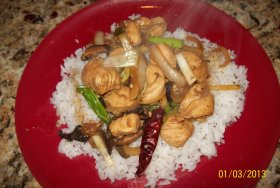 served over Jasmine rice