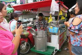 Coconut ice cream vendor