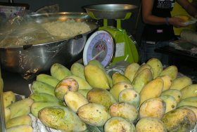 Mangos at the market in Thailand