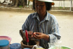Som Tum street vendor in Thailand