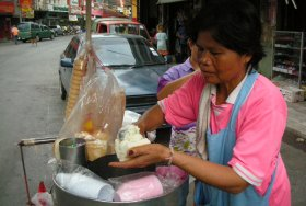 Ice cream vendor, Bangkok