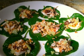 fresh shrimp miang kham