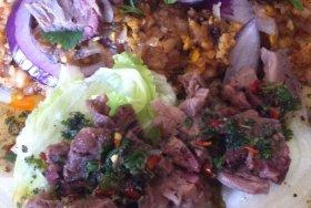 Pad thai beef salad combo